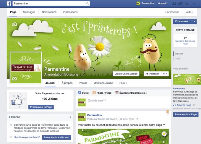 page facebook parmentine