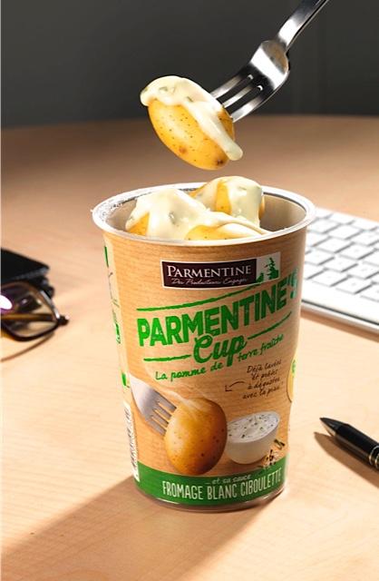 La cup de pomme de terre fromage blanc ciboulette